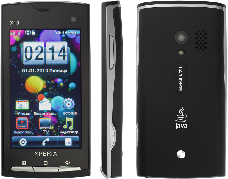 Китайский Sony Ericsson X10 JAVA TV Черный