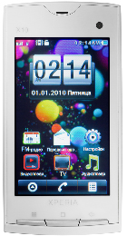Китайский Sony Ericsson X10 JAVA TV Белый